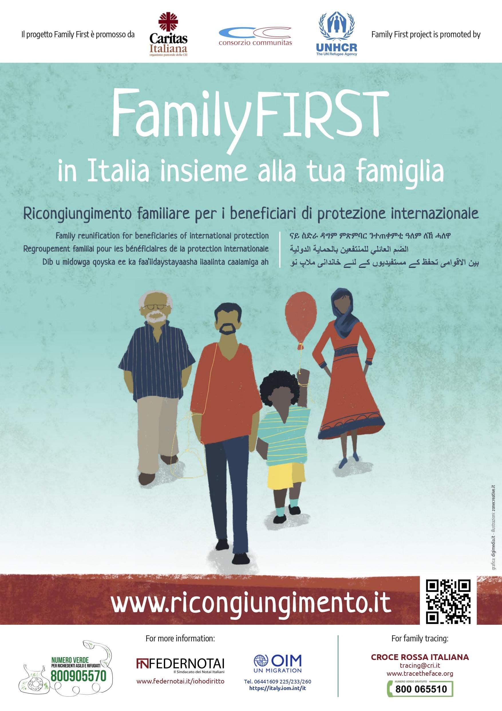 Family First, istruzioni per il ricongiungimento familiare per beneficiari di protezione internazionale
