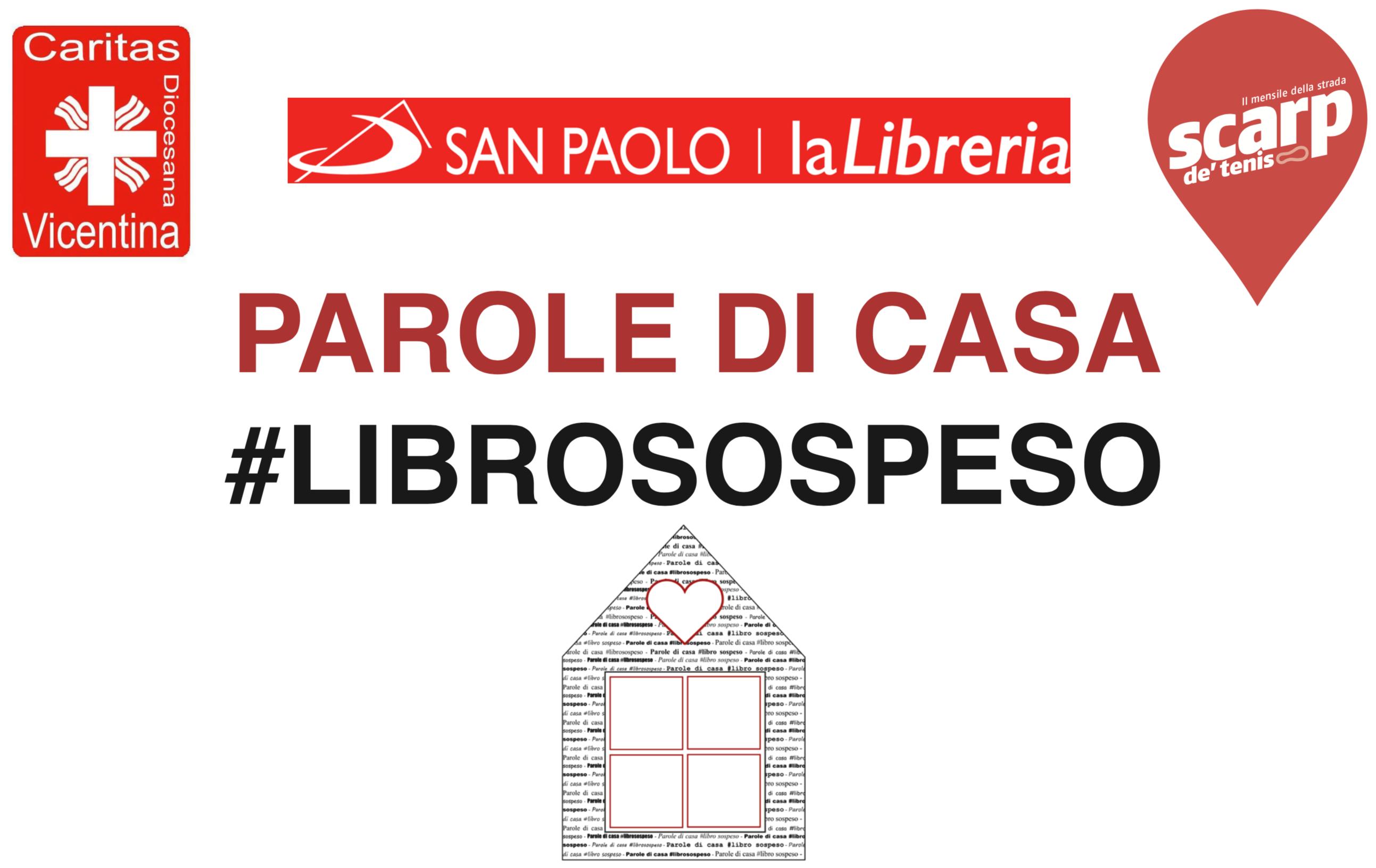 """""""Parole di casa"""", a Natale un #librosospeso a favore dei progetti di Caritas Diocesana Vicentina"""