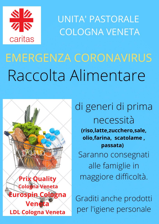 Cologna Veneta, raccolta alimentare per le famiglie in difficoltà
