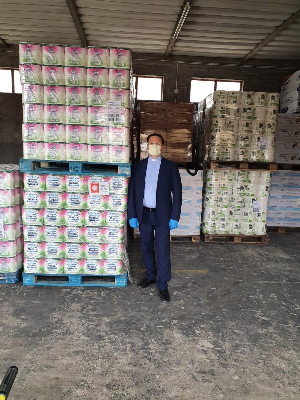 Sofidel dona alle Caritas del Triveneto prodotti di carta per uso igienico e domestico