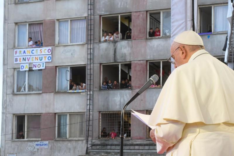 Il saluto del Santo Padre Francesco alla comunità Rom in occasione del Viaggio Apostolico in Slovacchia